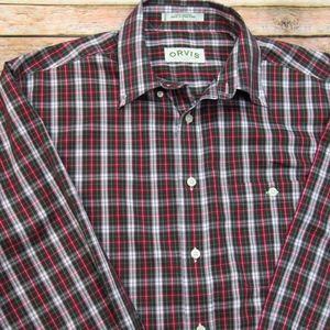 Orvis Men's Long Sleeve Button Down Shirt L